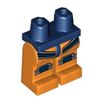 LEGO 6308846 JAMBE IMPRIME - ORANGE / EARTH BLUE