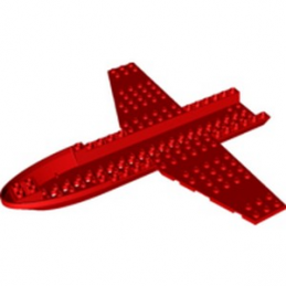 LEGO  6295955 CHASSIS AVION 26X24X1 2/3  - ROUGE  lego-6295955-chassis-avion-26x24x1-23-rouge- ici :