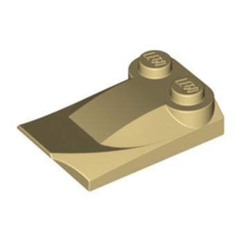 LEGO 6302265 PLATE W. BOWS 2X3½ - BEIGE lego-6302265-plate-w-bows-2x3-beige ici :
