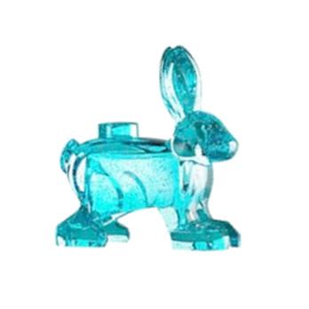 LEGO 6300146 LAPIN BLEU TRANSPARENT / GLITTER