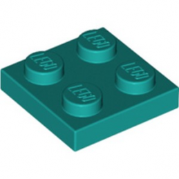 LEGO 6249390 PLATE 2X2 - BRIGHT BLUE GREEN lego-6249390-plate-2x2-bright-blue-green ici :