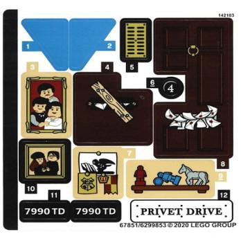 Stickers / Autocollant Lego Harry Potter 75968