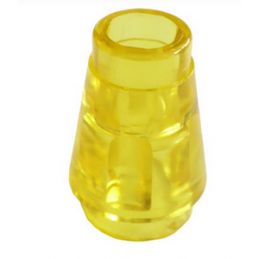 LEGO 6337597 NOSE CONE SMALL 1X1 - TRANSPARENT YELLOW
