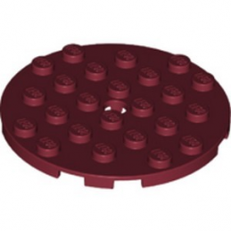 LEGO 6208726 PLATE RONDE 6X6 - NEW DARK RED