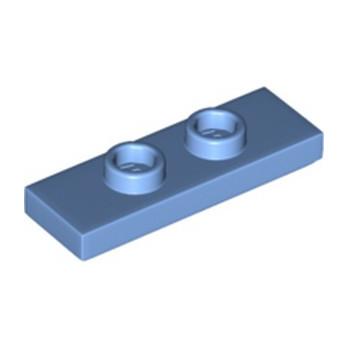 LEGO 6211970 PLATE 1X3 W/ 2 KNOBS - MEDIUM BLUE