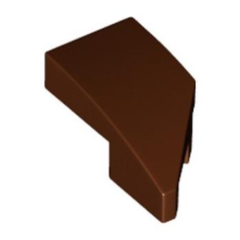 LEGO 6290397 ARQUE 1X2 GAUCHE 45 DEG - REDDISH BROWN