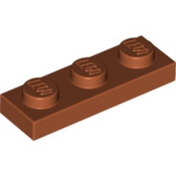 LEGO 6186007 PLATE 1X3 - DARK ORANGE lego-6186007-plate-1x3-dark-orange ici :