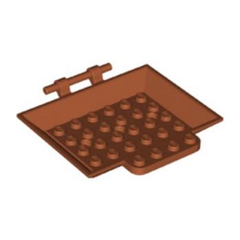 LEGO 6307457 BAC 6X8X1, W/3.2 SHAFT  - DARK ORANGE
