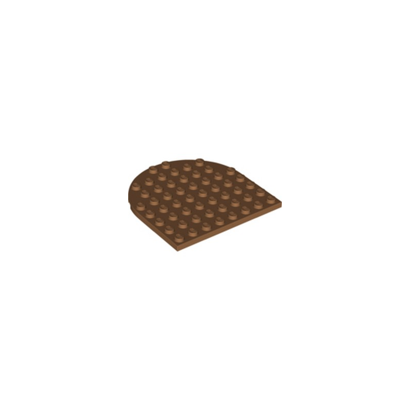 LEGO 6301315 1/2 ROND 8X8 - MEDIUM NOUGAT
