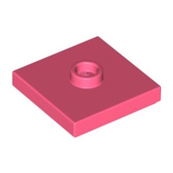 LEGO 6287638 PLATE 2X2 W 1 KNOB - CORAL lego-6287638-plate-2x2-w-1-knob-coral ici :