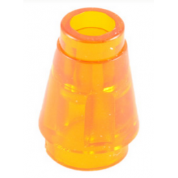 LEGO 6172233 NOSE CONE SMALL 1X1 - TRANSPARENT ORANGE