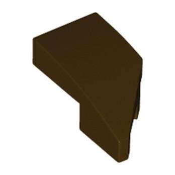 LEGO 6258952 ARQUE 1X2 GAUCHE 45 DEG - DARK BROWN