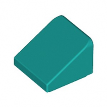 LEGO 6278172 TUILE 1X1X2/3 - BRIGHT BLUEGREEN