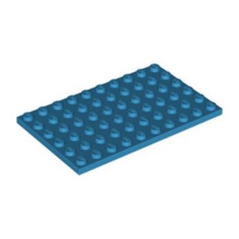LEGO 6306038 PLATE 6X10 - DARK AZUR