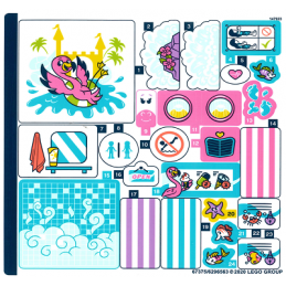 Stickers / Autocollant Lego Friends 41430 stickers-autocollant-lego-friends-41430 ici :