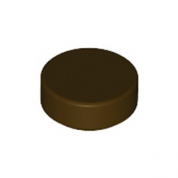 LEGO 6322813 PLATE LISSE ROND 1X1 - DARK BROWN