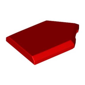 LEGO 6294045 FLAT TILE2X3 W/ANGLE  - ROUGE