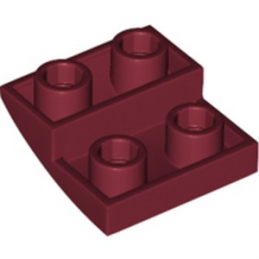 LEGO 6223906 BRIQUE 2X2X2/3, INVERTED BOW - NEW DARK RED lego-6223906-brique-2x2x23-inverted-bow-new-dark-red ici :
