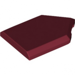 LEGO 6291066 FLAT TILE2X3 W/ANGLE  - NEW DARK RED