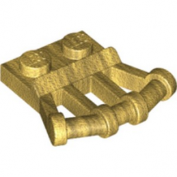 LEGO 6280488 PLATE 1X2 W.Ø3.2 SHAFT 22.5 D. - WARM GOLD