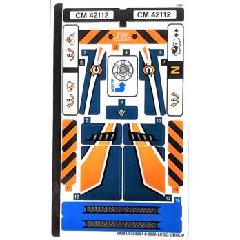 Stickers / Autocollant Lego Technic 42112 stickers-autocollant-lego-technic-42112 ici :