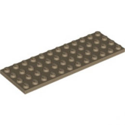 LEGO 6114515 PLATE 4X12 - SAND YELLOW