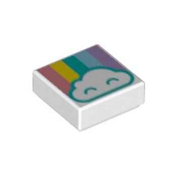 LEGO  6254609 IMPRIME 1X1 - ARC EN CIEL