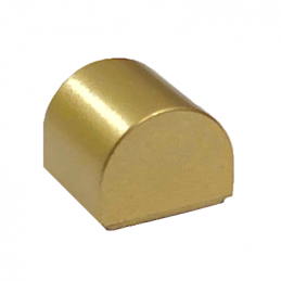 LEGO 6258135 DOME 1X1X2/3 - METAL DORE lego-6258135-dome-1x1x23-gold-ink ici :