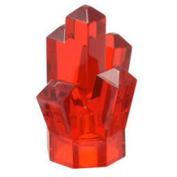 LEGO 4541537 ROCK CRYSTAL - ROUGE TRANSPARENT