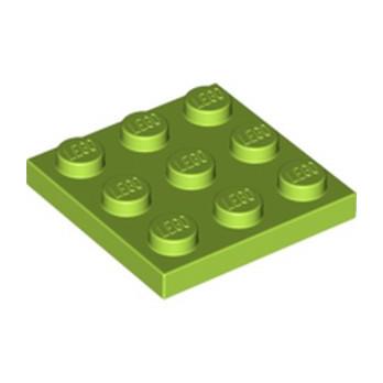 LEGO  6236566 PLATE 3X3 - BRIGHT YELLOWISH GREEN  lego-6236566-plate-3x3-bright-yellowish-green- ici :