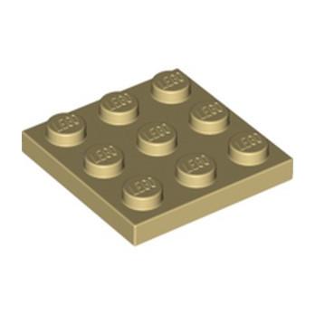 LEGO  6115031 PLATE 3X3 - BEIGE
