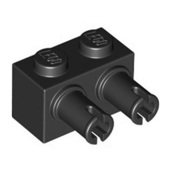 LEGO 6276875 BRIQUE 1X2 W. DOUBLE SNAP - NOIR