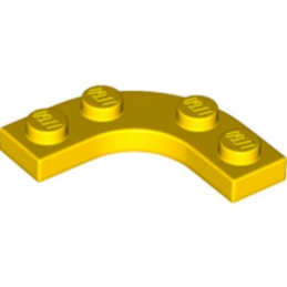 LEGO 6308390 PLATE 3X3, 1/4 CERCLE - JAUNE