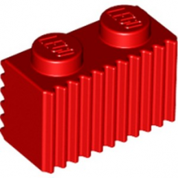 LEGO 6219677 BRIQUE 1X2 - ROUGE