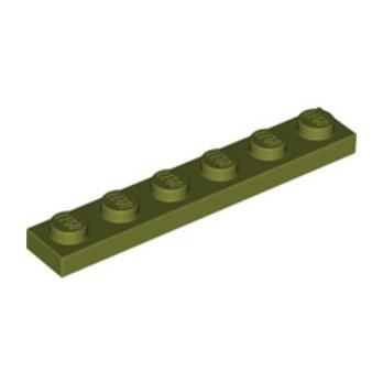 LEGO 6278089 PLATE 1X6 - OLIVE GREEN lego-6278089-plate-1x6-olive-green ici :