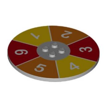 LEGO  6242551  IMPRIME LUDO GAME ROULETTE Ø63.84