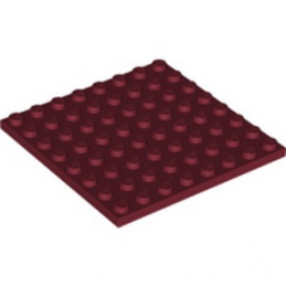 LEGO 6249819 PLATE 8X8 - NEW DARK RED