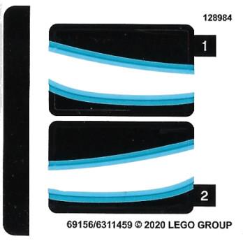 Stickers / Autocollant Lego Iron Man - 76165