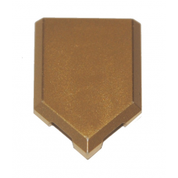 LEGO 6294551 FLAT TILE2X3 W/ANGLE  - GOLD INK