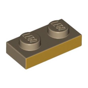LEGO  6311491 PLATE 1X2 IMPRIME GOLD INK