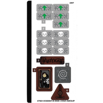 Stickers / Autocollant Lego Ninjago - 71722 stickers-autocollant-lego-ninjago-71722 ici :