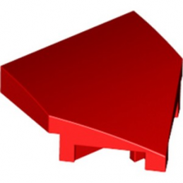 LEGO 6305047 PLATE W/ BOW 2X2X2/3, 45° - ROUGE
