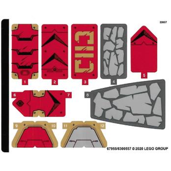 Stickers / Autocollant Lego Ninjago - 71720
