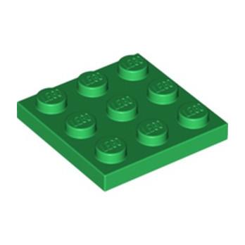 LEGO  6253139 PLATE 3X3 - DARK GREEN