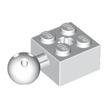 LEGO 6307640 BRIQUE 2X2 W. BALL Ø 10.2 - BLANC lego-6307640-brique-2x2-w-ball-o-102-blanc ici :