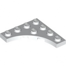 LEGO 6254335 PLATE 4X4 ROND INV - BLANC