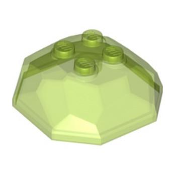 LEGO 6299470 ROCHER 4X4X1 1/3 - VERT FLUO TRANSPARENT