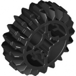 LEGO 3226926 	DOUBLE CONICAL WHEEL Z20 1M - Black