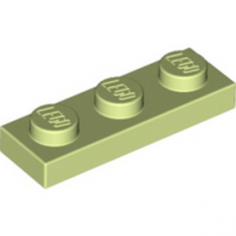 LEGO 6069258 PLATE 1X3 - SPRING YELLOWISH GREEN lego-6069258-plate-1x3-spring-yellowish-green ici :