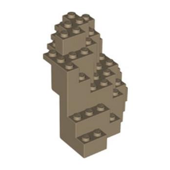 LEGO 6233297  MOUNTAIN BOTTOM  8X8X6  - SAND YELLOW lego-6233297-mountain-bottom-8x8x6-sand-yellow ici :